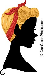 Silhouette Girl Pin Up Bandana