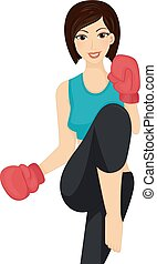 Girl Kick Boxing