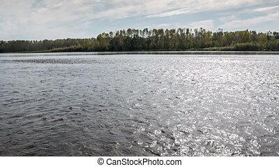 River - Tom River in western Siberia