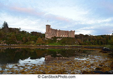 Dunvegan Castle on the Isle of Skye on Loch Dunvegan