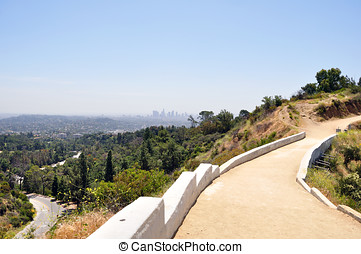 Bridge to Griffith Observatory - The foot bridge that...