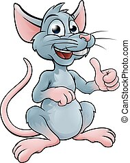 Cute Cartoon Mouse or Rat - Mouse or rat cartoon character...