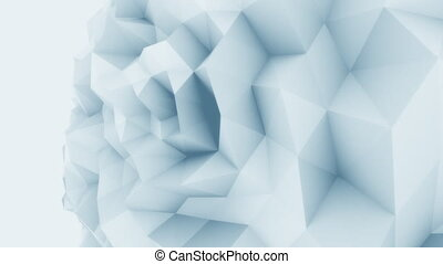Blue 3D low poly edgy sphere motion background for modern...