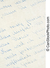 Handwriting - Background of letter written in German with...