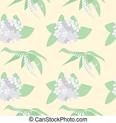 Seamless pattern with Orange Blossom.