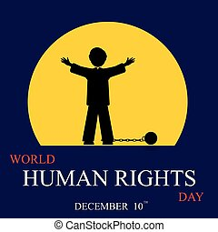 International Human Rights Day. December 10th conceptual...