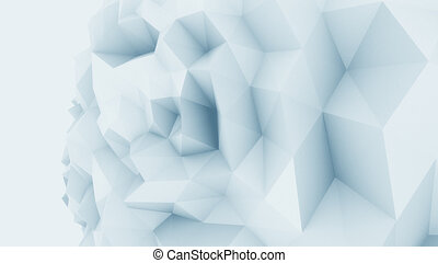 Blue low poly edgy sphere background for modern reports and...