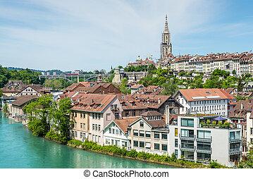 cidade, Tesouro,  -, Berna, Suíça, mundo