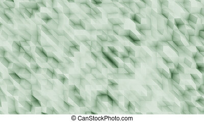 Green abstract polygonal modern backsrop for presentations...