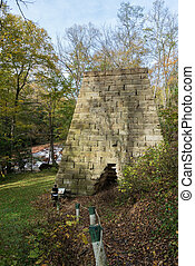 Iron Furnace by Muddy Creek near Albright WV - Historic...