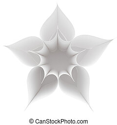 Heart flower - Above view of several paper hearts forming...