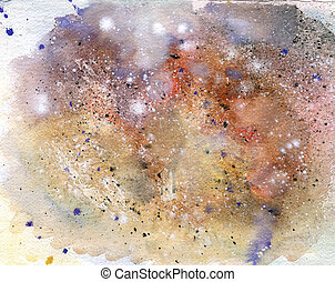 Chaos - Colorful background painted with aquarelle by...