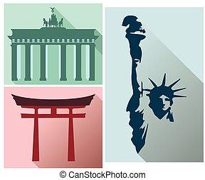 Brandenburg Gate. Japan Gate.