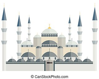 The Blue Mosque. Turkey. Istanbul. Wonders of the world.
