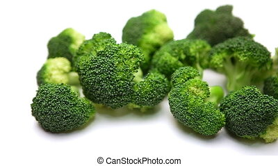 Broccoli isolated on white background - fresh Broccoli salad...