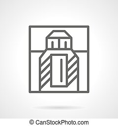 Perfumery bottle and box simple line vector icon - Perfume...