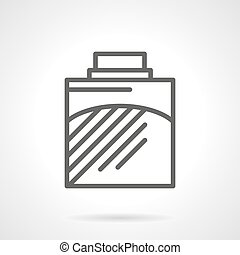 Cologne black line vector icon - Container of cologne. Mens...