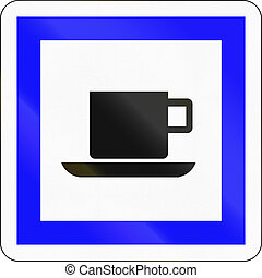 Road sign used in France - Refreshments
