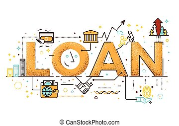 Personal loan illustration - Personal loan, business finance...