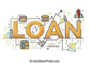 Personal loan illustration - Personal loan, business finance...