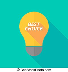 Long shadow light bulb icon with the text BEST CHOICE -...