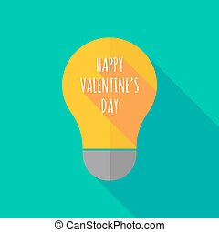 Long shadow light bulb icon with the text HAPPY VALENTINES...