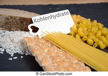 Carbs - Kohlenhydrate - the german word for carbs