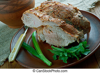 Lithuanian pork cooked ham - Kumpis - Lithuanian pork cooked...