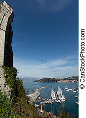Lerici, Italy view of port - View of port from the castle....