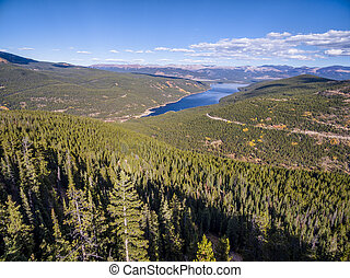 Turquoise Lake aerial view - Turquoise Lake and Hagerman...