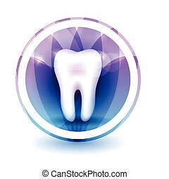 Healthy tooth Sign, round shape colorful overlay flower...