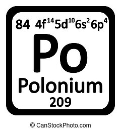 Periodic table element polonium icon. - Periodic table...