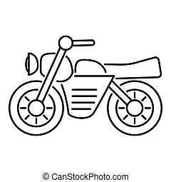Motorcycle icon, outline style