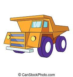 Truck icon, cartoon style