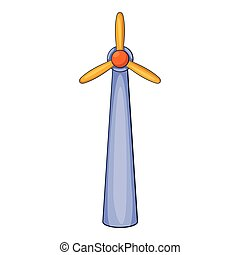 Windmill icon, flat style - Windmill icon. Flat illustration...