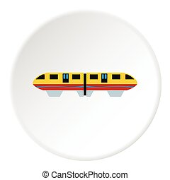 Electric train icon, flat style - Electric train icon. Flat...