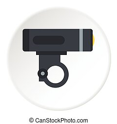 Bike light icon, flat style - Bike light icon. Flat...