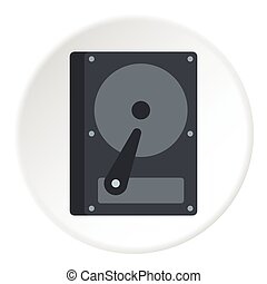 CD rom icon, flat style - CD rom icon. Flat illustration of...