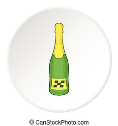 Champagne for the winner icon, cartoon style - icon. Cartoon...