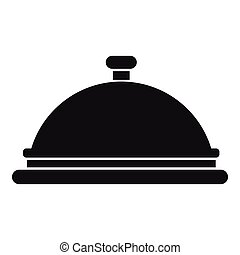 Restaurant cloche icon, simple style - Restaurant cloche...