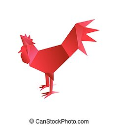 origami red rooster