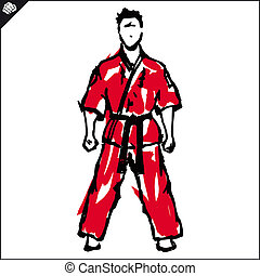 Martial arts. Karate fighter. Vector. EPS. - Martial arts....