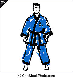 Martial arts Karate fighter - Martial arts Karate fighters...
