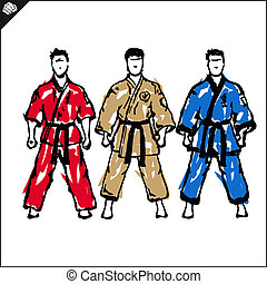 Martial arts-karate fighters - Martial arts. Karate fighters...