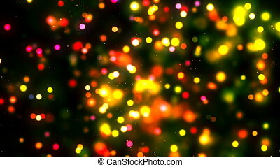 HD Loopable Background with nice glowing golden spark