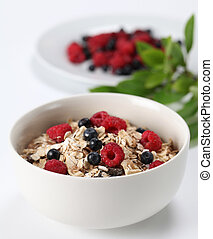 Granola with summer berries - Granola with fresh organic...