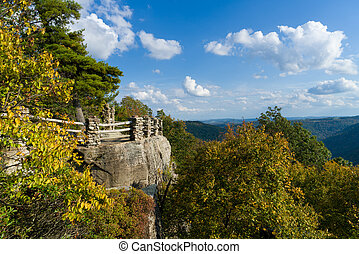 Viewing platform at Coopers Rock State Forest WV - View of...