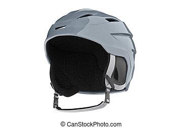Helmet ski headwear sport equipment. 3D graphic
