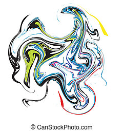 Colour abstract stains. Vector
