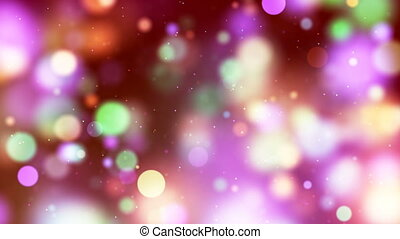 HD Loopable Background with nice multicolor bokeh